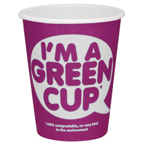I'm A Green Cup Compostable Paper Coffee Cup 8oz / 230ml