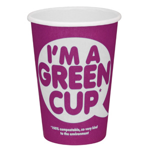 I'm A Green Cup Compostable Paper Coffee Cup 12oz / 340ml