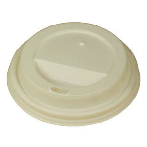 Compostable Coffee Cup Sip Lids To Fit 85mm Paper Cups (8oz)