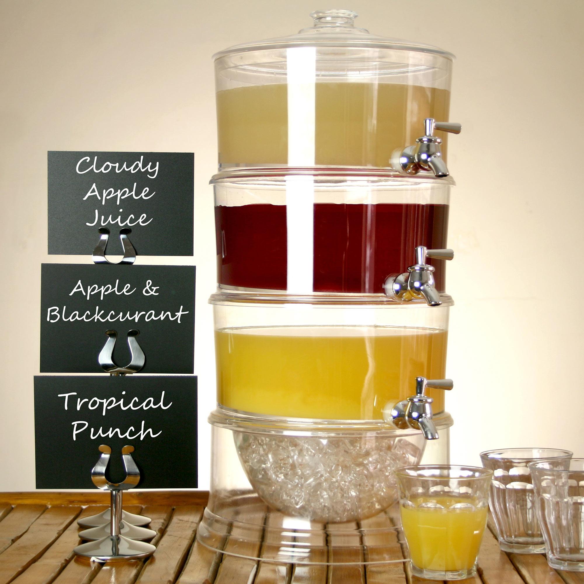 3 Tier Drink Dispenser 11 25ltr Beverage Dispenser Juice