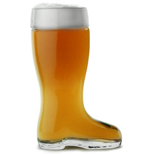 Image of Glass Beer Boot 9.7oz / 275ml (Case of 6)