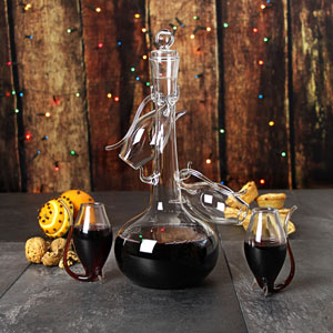 Port Sipper Set with Four Sippers