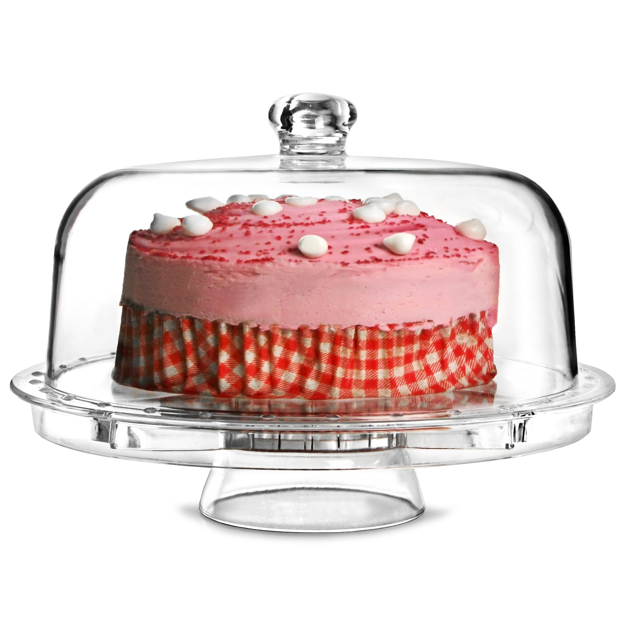 Multifunctional 5 in 1 Cake Stand and Dome. Click ...  sc 1 st  Drinkstuff & Multifunctional 5 in 1 Cake Stand and Dome   Cake Stand Salad Bowl ...