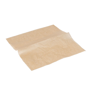 EcoCraft Kraft Brown Greaseproof Paper 27.5 x 25.5cm