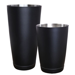 Black Matte Tin on Tin Cocktail Shaker
