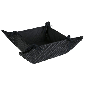 Image of Black Tie Fabric Bread Basket (Single)
