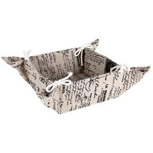 Image of Script Tie Fabric Bread Basket (Case of 24)
