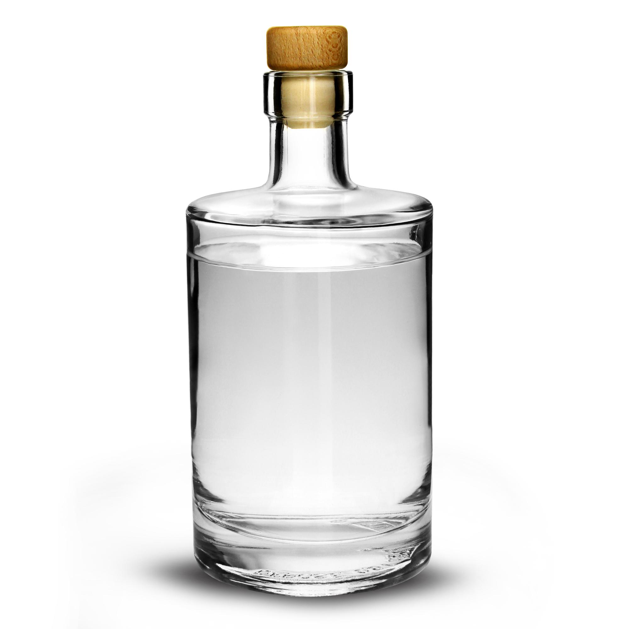 Galileo Flint Glass Bottle With Cork Lid 176oz 500ml