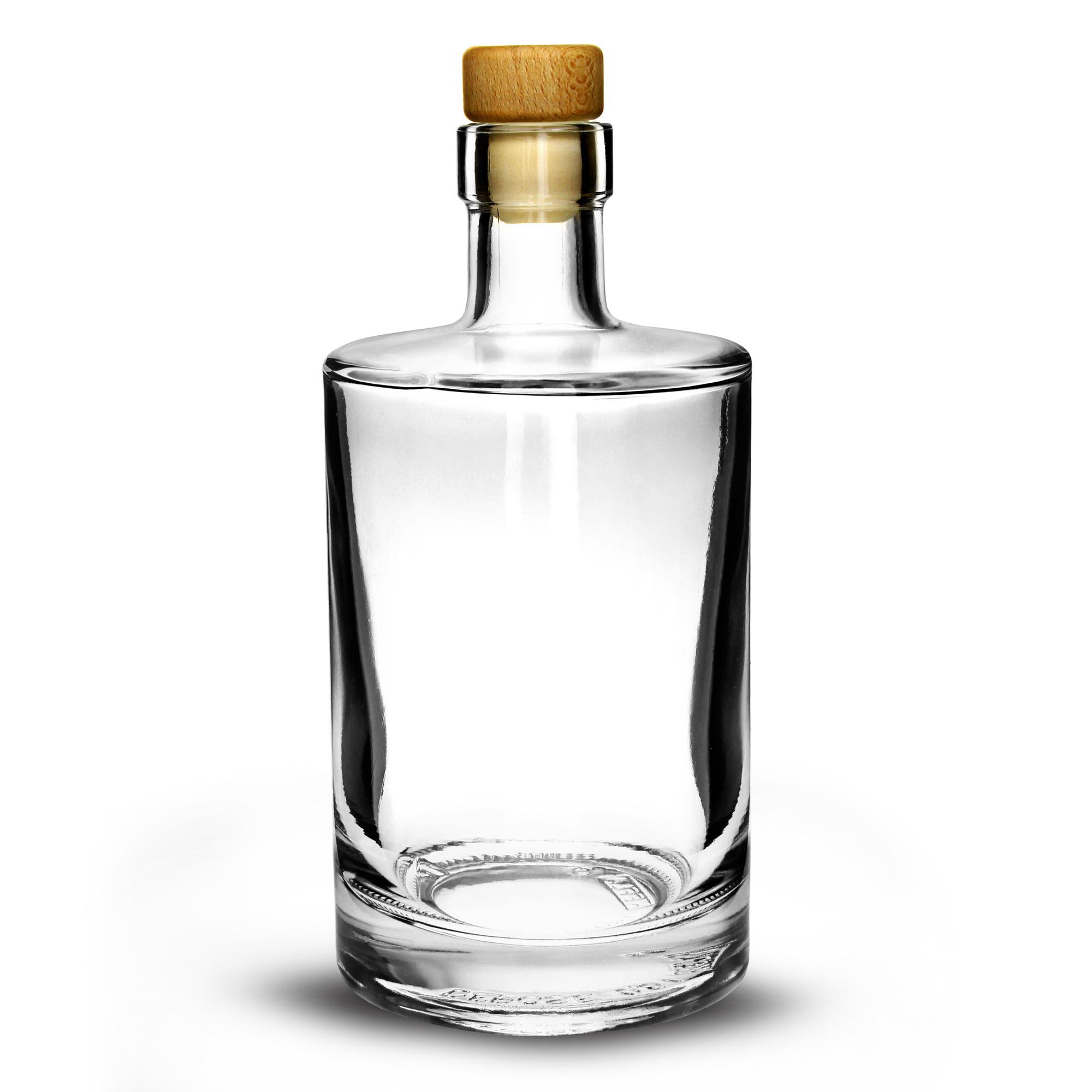 Galileo flint glass bottle with cork 500ml glass bottle for Glass bottles for wine