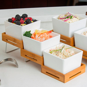 Bamboo Expandable Buffet Riser Set