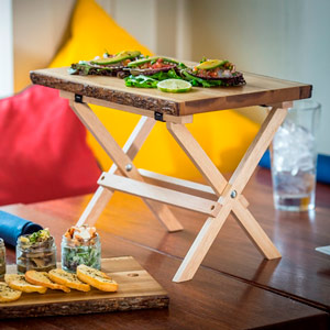Mini Table Tray Stand Natural