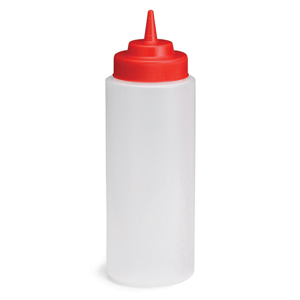 Natural Squeeze Bottle with Red Top 32oz / 945ml