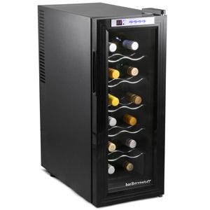 Sommelier 12 Bottle Wine Cellar Black