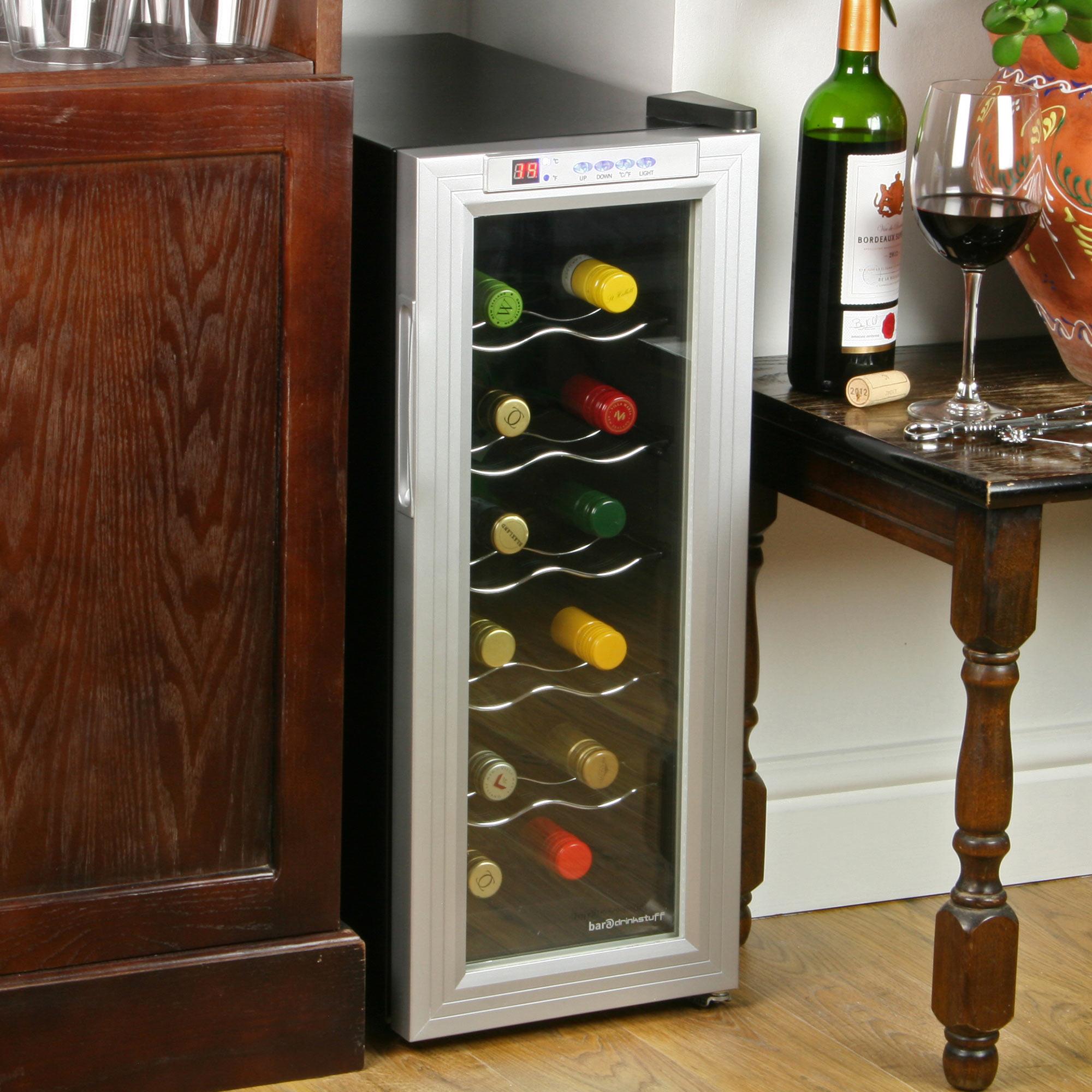 Black Wine Cellar : Sommelier bottle wine cellar black and silver