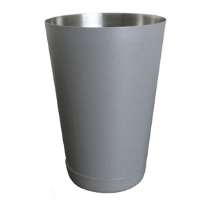 Textured Shadow Grey Boston Cocktail Shaker Tin 18oz / 510ml