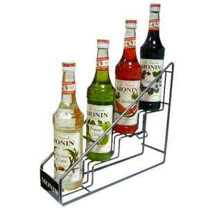 Monin Syrup 4 Bottle Rack