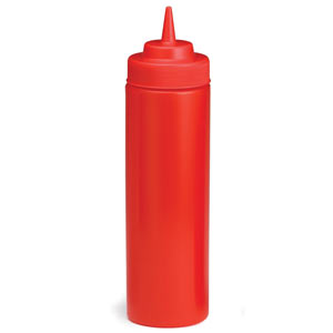 Red Squeeze Sauce Bottle 12oz / 355ml
