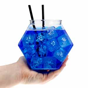 Hexagonal Cocktail Fish Bowl 30oz / 887ml
