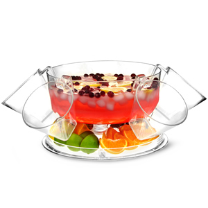 Multifunctional 5 in 1 Punch Bowl with Four Punch Cups