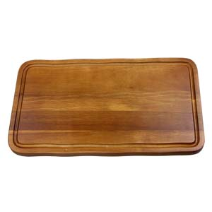 Acacia Wood Serving Board with Groove 40 x 22cm