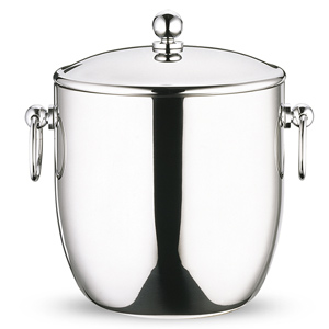 Elia Curved Double Wall Ice Bucket with Tongs 1.3ltr