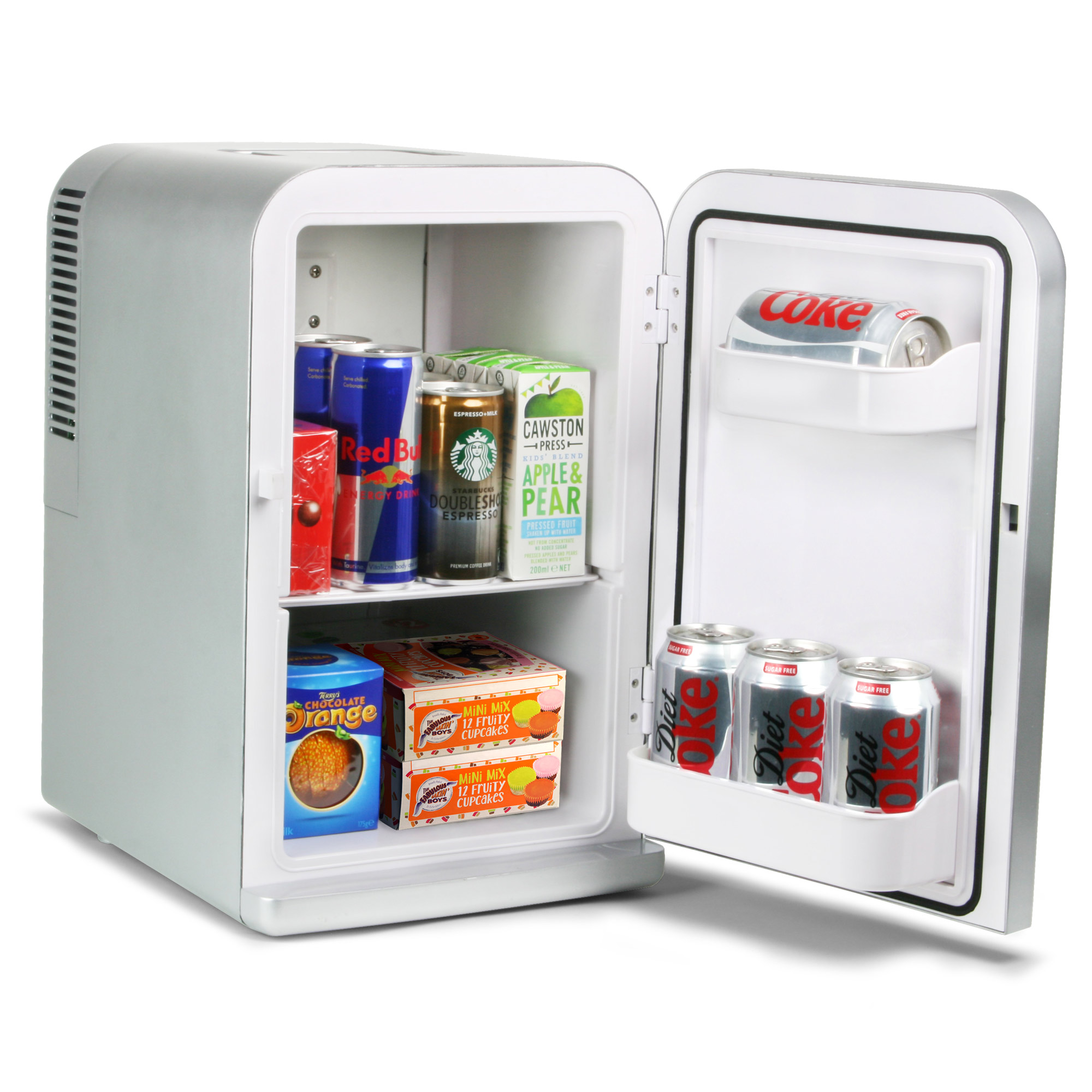 chillmate thermoelectric mini fridge cooler and warmer silver 15 litre mini fridges beer. Black Bedroom Furniture Sets. Home Design Ideas