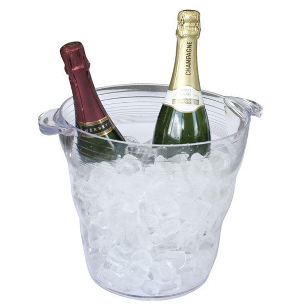 Clear Plastic Double Wine Bucket At Drinkstuff Com
