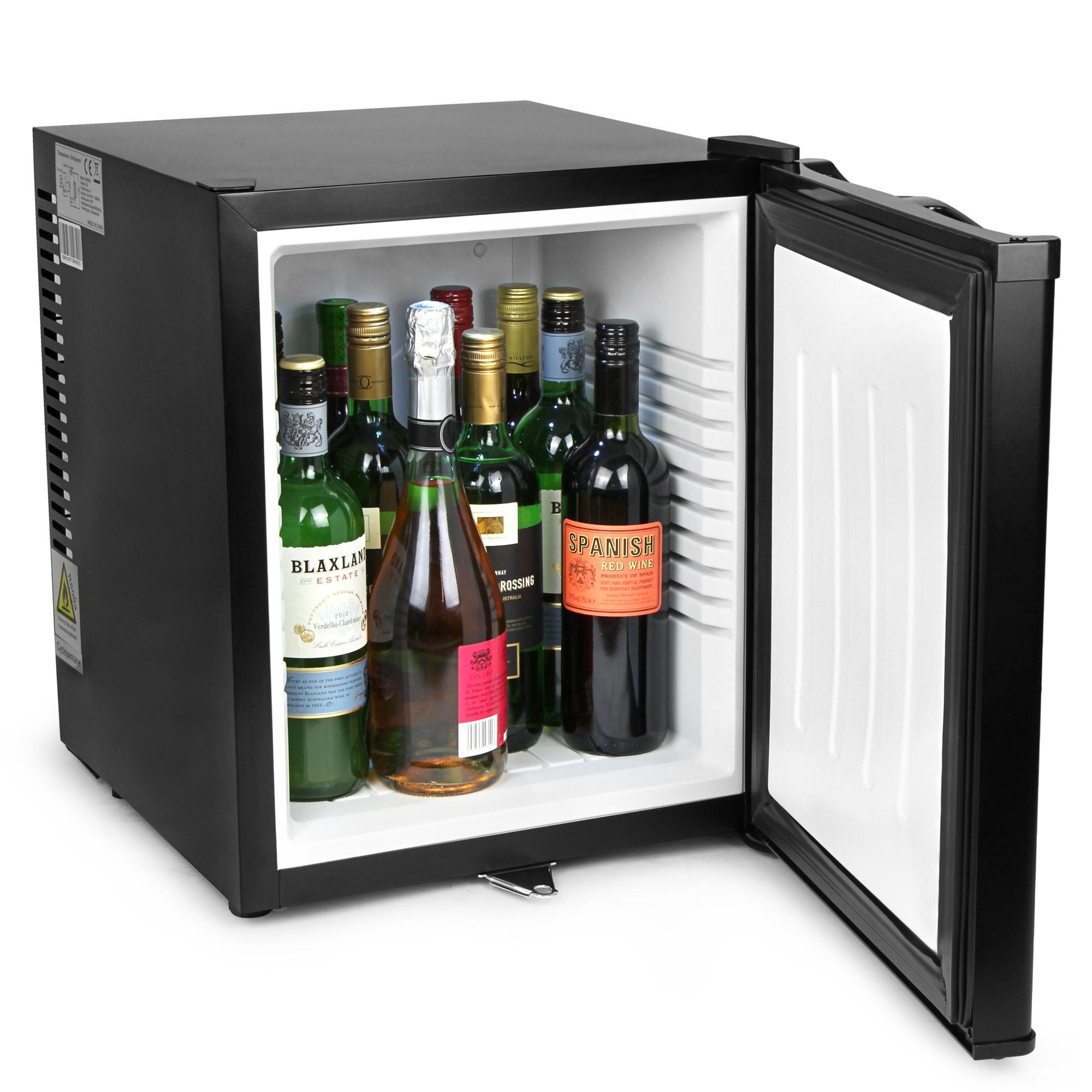 chillquiet silent mini bar fridge 32ltr black  silent