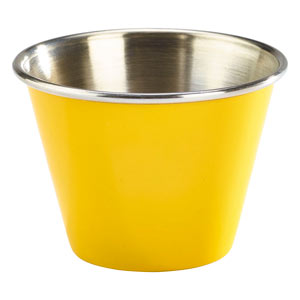 Yellow Stainless Steel Ramekin 2.5oz / 71ml