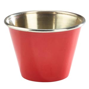 Red Stainless Steel Ramekin 2.5oz / 71ml