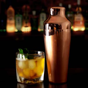 Mezclar Copper Plated Art Deco Cocktail Shaker 17.5oz / 500ml