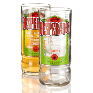 Recycled Desperados Beer Bottle Glasses 9.75oz / 280ml