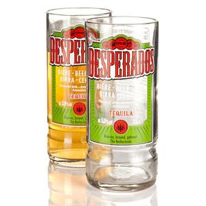 Recycled Desperados Beer Bottle Glasses 9.75oz / 280ml
