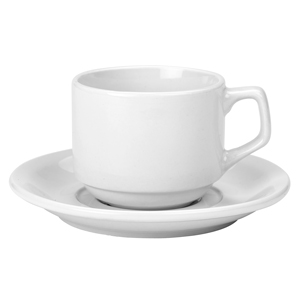 RG Tableware Stacking Cups & Saucers 7oz / 200ml