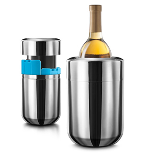 Final Touch Stainless Steel Wine Chiller