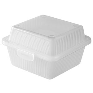 Eco-Takeouts Square Food Container 4.75 x 4.75 x 3.25inch - Clear