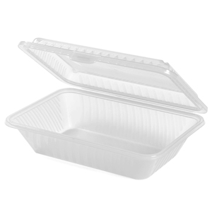 Eco-Takeouts Rectangle Food Container 9 x 6.5 x 2.5inch - Clear