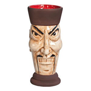 Ceramic Tiki Mug Fu Manchu 12.7oz / 360ml