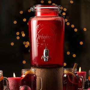 Kilner Garden Party Drinks Dispenser Red 176oz / 5ltr