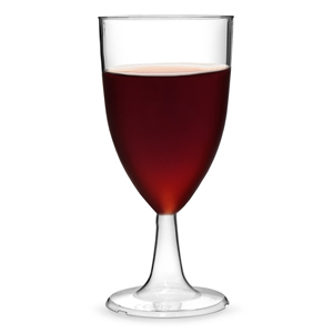 Disposable Tulip Wine Glasses 7.6oz LCE at 125ml & 175ml