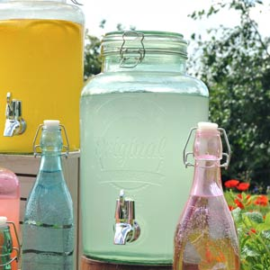 Kilner Garden Party Drinks Dispenser Green 5ltr