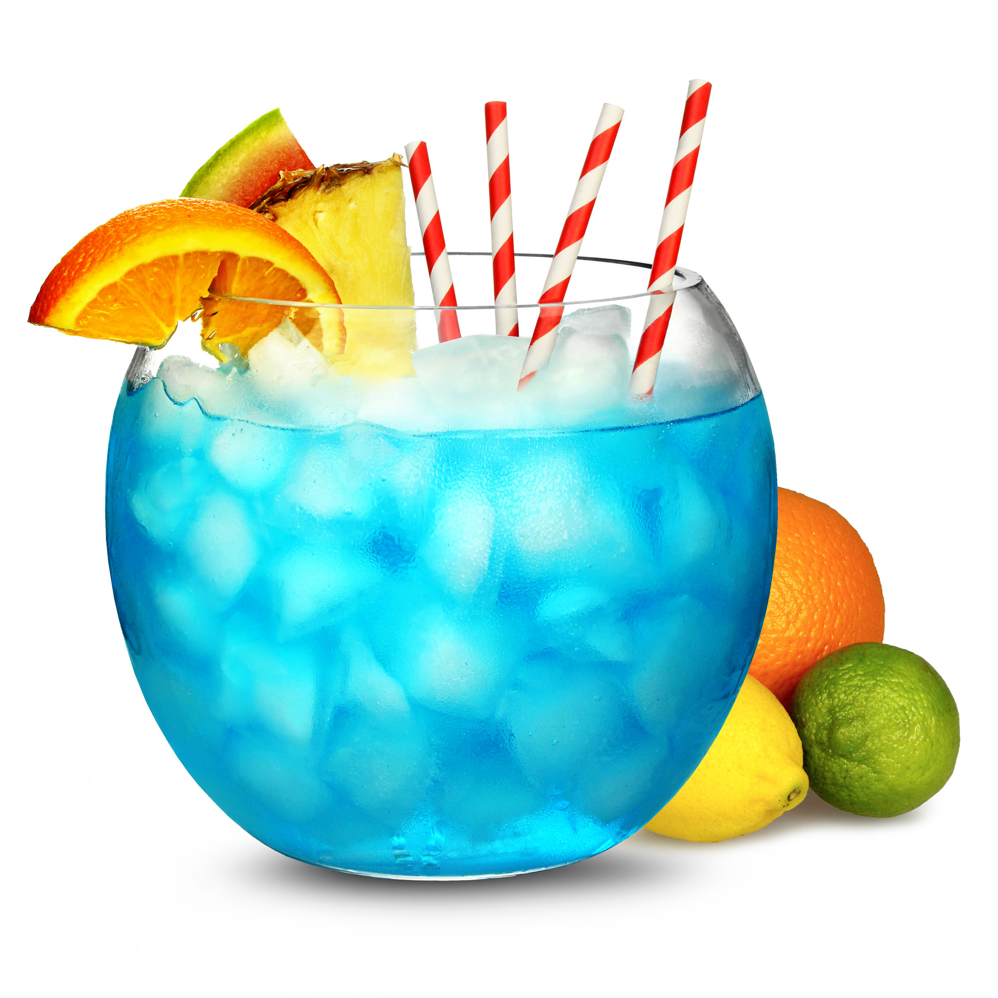 Glass cocktail fish bowl 92oz bar drinkstuff for Fish bowl drinks near me
