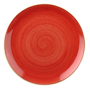 Churchill Stonecast Berry Red Coupe Plate 11.25inch / 28.8cm