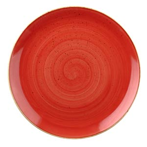 Churchill Stonecast Berry Red Coupe Plate 8.25 inch / 21.7cm