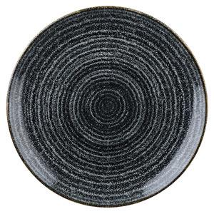 Studio Prints Homespun Evolve Coupe Plate Charcoal Black 11.25inch / 28.8cm