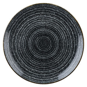 Studio Prints Homespun Evolve Coupe Plate Charcoal Black 8.67inch / 21.7cm