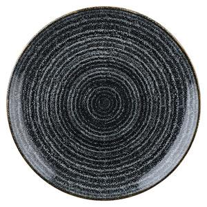 Studio Prints Homespun Evolve Coupe Plate Charcoal Black 6.5inch / 16.5cm