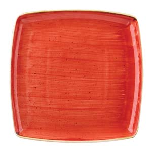 Churchill Stonecast Berry Red Deep Square Plate 10.25 inch / 26.8cm