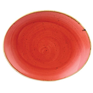 Churchill Stonecast Berry Red Oval Coupe Plate 7.75 inch / 19.2cm