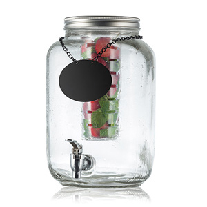 Mason Jar Glass Beverage Dispenser 7.5ltr